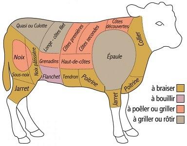 Decoupe veau